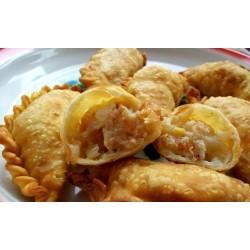 Empanaditas fritas de mariscos 11cms x25