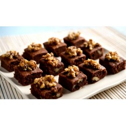 Mini Brownies bañados en chocolate con nuez x30