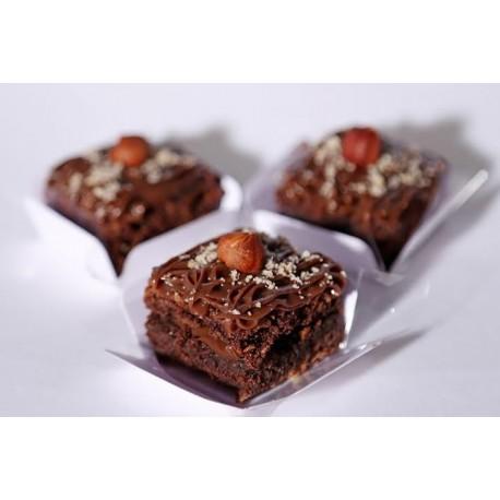 Mini Brownies bañados en chocolate avellana x30