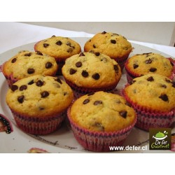 Muffins de vainilla y chips x6