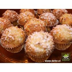 Muffins de vainilla y bolitas de azucar x6