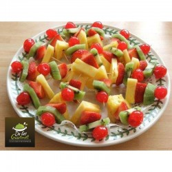 Brochetas de Fruta y queso x20